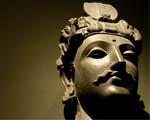 Obrázek - Hlava sochy čínského válečníka