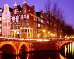 Obrázek - Amsterdam v pouličních světlech