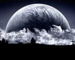Obrázek - Abstraktně vyjádřený měsíc na Zemi