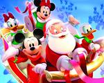 Obrázek - Vánoční jízda myšáka Mickeyho a jeho přátel