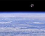 Obrázek na plochu - Pohled na Zemi s měsícem