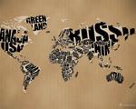 Obrázek na plochu - Typografická mapa světa