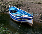 Obrázek - Rybářská loďka na řece