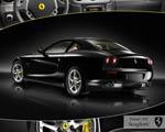 Obrázek - Ferrari 612 Scaglietti černé barvy