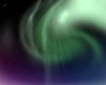 Obrázek - Polární záře na monitoru