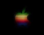 Obrázek - Logo Apple na černém podkladu