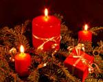 Obrázek - Adventní svíce a vánoční dárek