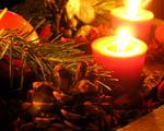 Obrázek - Hořící vánoční svíce