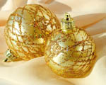 Obrázek - Zlaté vánoční ozdoby
