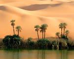 Obrázek - Jezero Ouem El Ma v Libyi