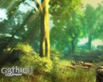 Obrázek - Sluneční paprsky prosvětlují krajinu ve hře Gothic 4