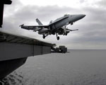 Obrázek - Start stíhače z letadlové lodi
