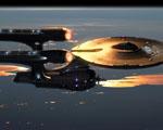 Obrázek - Vesmírná loď Enterprise na orbitě