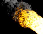 Obrázek - Hořící meteorit v detailu