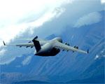 Obrázek - C-17 přelet přes Aljašku