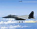 Obrázek - Stíhačky F-15 odpalují rakety