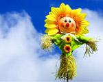Obrázek - Vtipná květina v oblacích