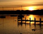 Obrázek - Západ slunce u jezera
