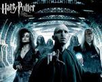 Obrázek - Voldemord, Belatrix Lestrangeová, Lucius Malfoy a smrtijedi