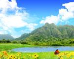 Obrázek - Nádherný výhled na zelené hory