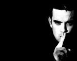 Obrázek - Robbie Williams černobíle