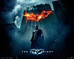 Obrázek - Logo Batmana vypálené v budově