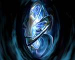 Obrázek - Modrá 3D abstrakce