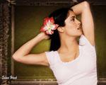 Obrázek - Salma Hayek a krásná orchidea ve vlasech