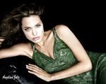 Obrázek - Angelina Jolie a zelené šaty