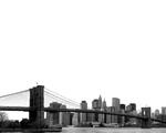Obrázek - Brooklynský most v černobílých barvách