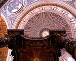 Obrázek - Pohled na strop v katedrále Svatého Basileje