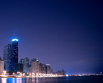 Obrázek - Chicago v nočních barvách