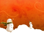 Obrázek - Smějící se sněhuláci