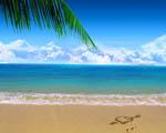 Obrázek - Srdce na pláži