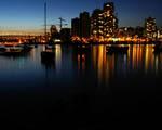Obrázek - Pohlednice s osvětleným přístavem