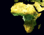 Obrázek - Afrika satelitní snímek