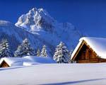 Obrázek - Zasněžená horská chata