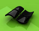 Obrázek - Lesklé černé logo Windows Vista