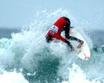 Obrázek - Takzvaný cutback při surfingu