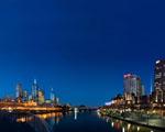 Obrázek - Melbourne v Austrálii těsně před východem slunce