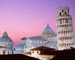 Obrázek - Šikmá věž v Pise v růžovém oparu