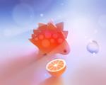 Obrázek - Stegosaurus a kamarád citrón