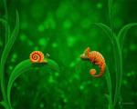 Obrázek - Šnek a chameleón