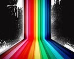 Obrázek - Barevná vektorová duha na tmavém pozadí