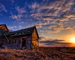 Obrázek - Západ slunce za zříceninou