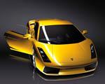 Obrázek - Žluté Lamborghini přední pohled