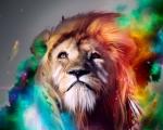 Obrázek - Život lva v abstrakci