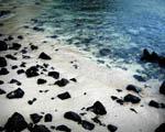 Obrázek - Černobílá pláž