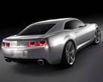 Obrázek - Stříbrné Chevrolet Camaro zadní pohled
