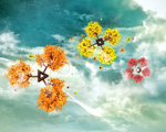 Obrázek - Pestrobarevné stromy nebe